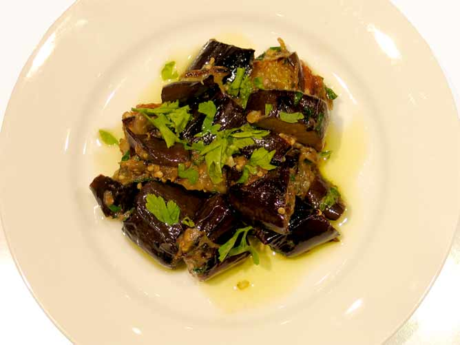 Aubergines\Eggplants with oven-dried plums
