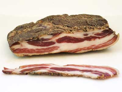 Home-cured Pancetta
